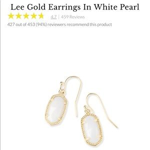 Kendra Scott Lee gold earrings white pearl ✨
